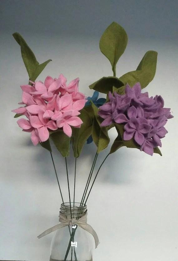 Felt hydrangea Flowers