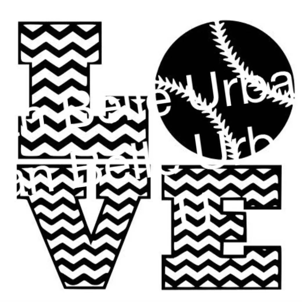 Download Chevron Love Baseball Softball svg dxf file scrapbook | Etsy
