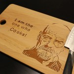 Lets Cook Heisenberg Walter White Breaking Bad One Who Cooks Cutting Chopping Board Kitchen Decor Beech Or Bamboo Large Size 18 X 11