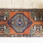 Vintage Burnt Orange Rust Copper Turkish Wool Rug Small Bathroom Kitchen Entryway Rug Bohemian Farmhouse Global Home Or Nursery Decor