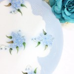 Hand Painted Blue Floral French Plate Handpainted J P France Porcelain Plates Display Plate Wall Decor Dinnerware Shabby Chic A665
