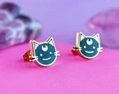 Luna Cat Stud Earrings   gifts for her, for cat lovers, cat jewelry