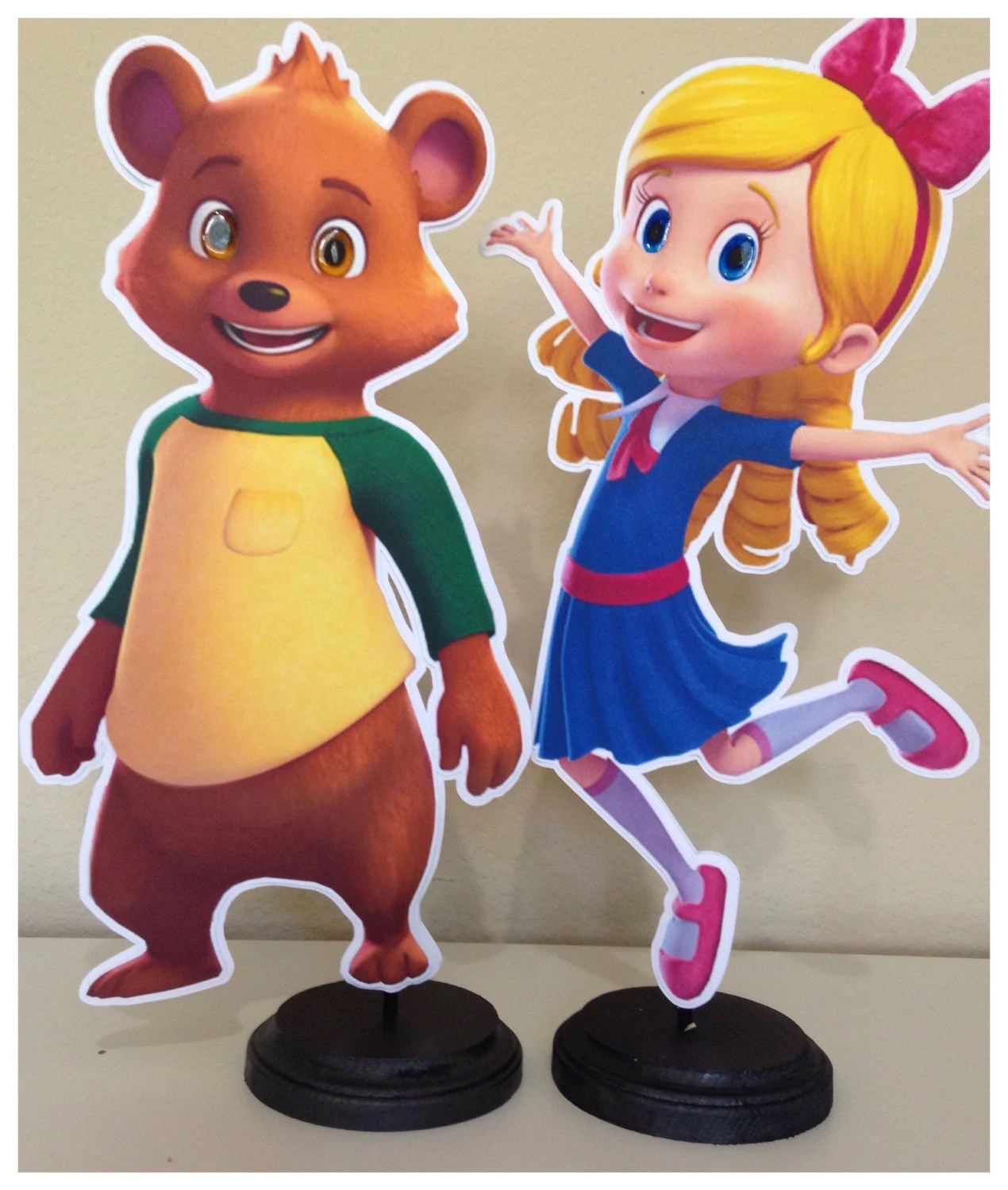 Goldie And Bear Birthday Party Centerpieces Etsy