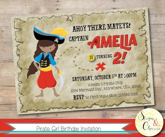pirate invitation printable pirate