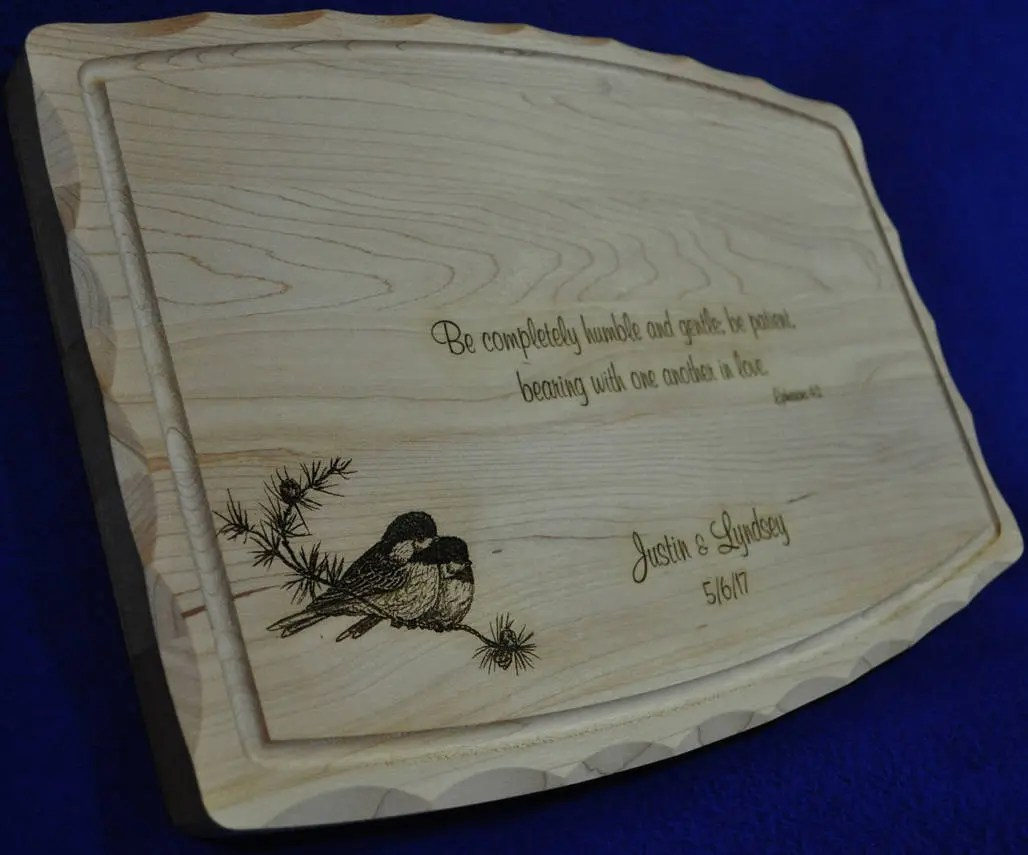 Wedding Gift Bridal Shower Gift Custom Cutting Board