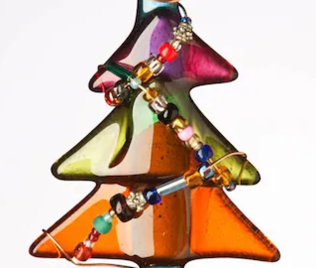 Adorable Beaded Glass Holiday Treescontemporary Colors