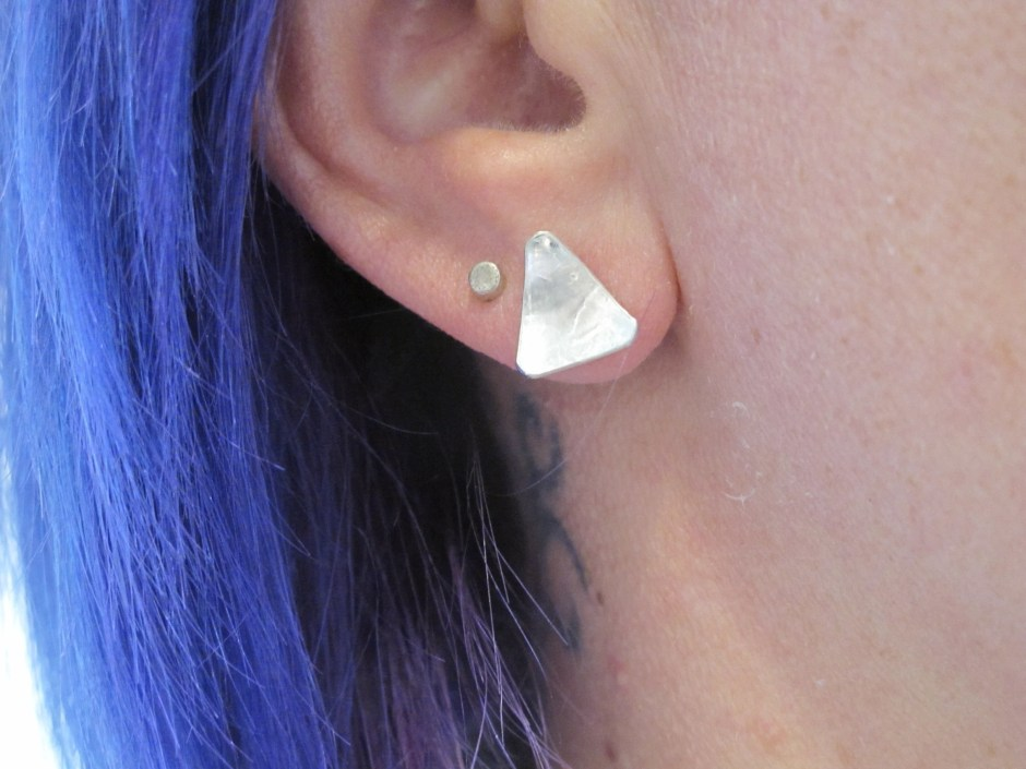 sterling silver triangle ...