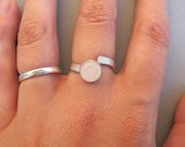 Eco silver ring with 8mm ...