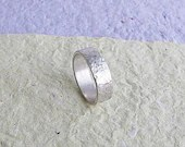 Sterling silver wide band...
