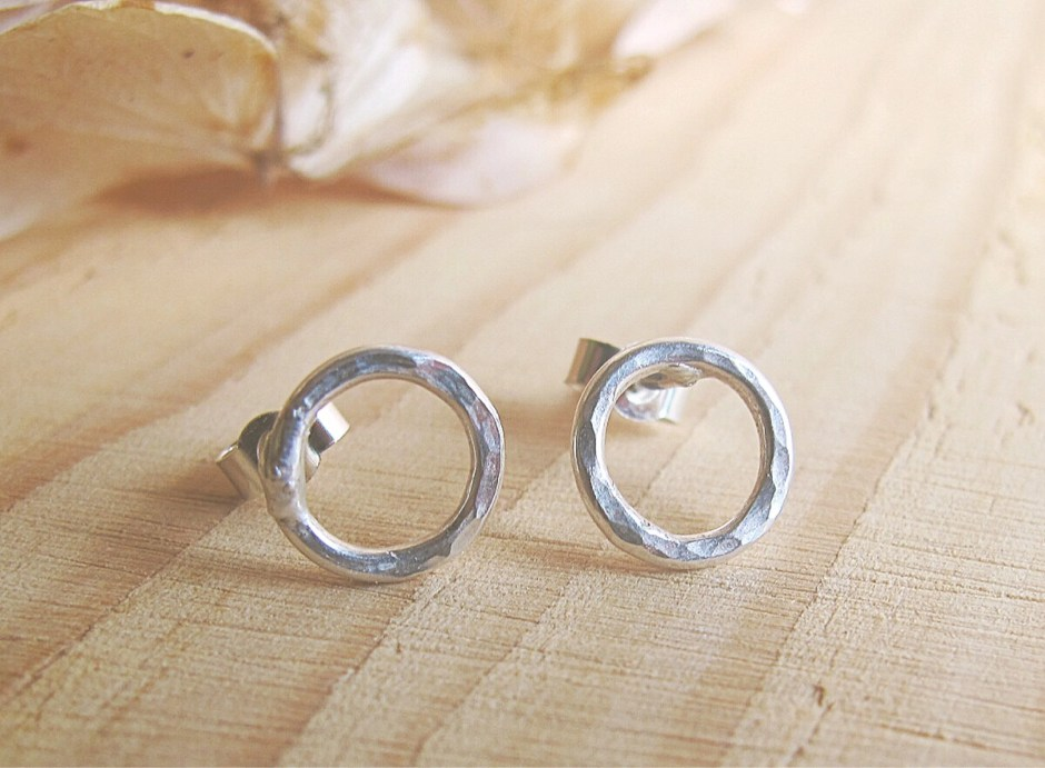 Sterling silver circle st...