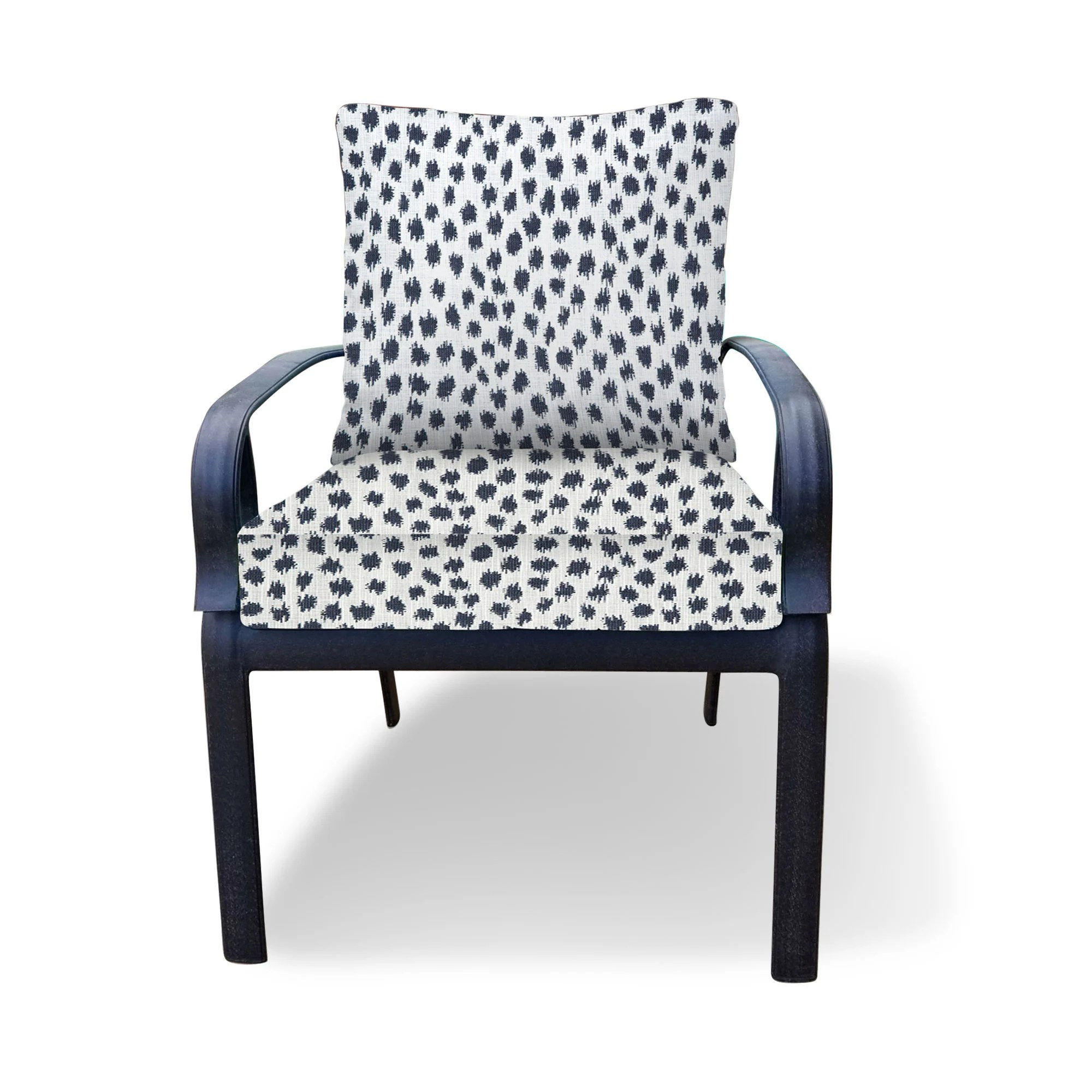 outdoor cushion dark blue white outdoor cushions for chair etsy