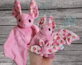 PRE-ORDER Pink Strawberry Bat Plush Scented or No Scent