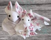 PRE-ORDER White Japanese Cherry Blossom Bat Plush Scented or No Scent