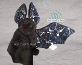 Made to Order Black GLOW in the DARK Galaxy Constellation Bat Plush Scented or No Scent