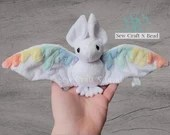 PRE-ORDER Pastel Rainbow Bat Plush Scented or No Scent