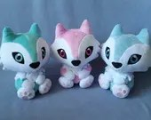 Custom Color Husky, Wolf, or Werewolf Plush Stuffed Animal (MADE TO ORDER)