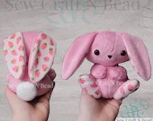 MADE TO ORDER Pink Strawberry Bunny Rabbit Plush