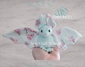 PRE-ORDER Mint Japanese Cherry Blossom Bat Plush Scented or No Scent
