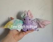 MADE TO ORDER Light Purple Pastel Galaxy Bat Plush