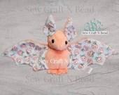 PRE-ORDER Peach Bat Plush Scented or No Scent