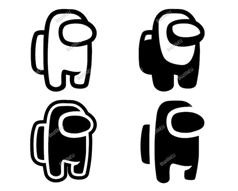 Download Among Us SVG Video Game Silhouette Instant Download Svg   Etsy