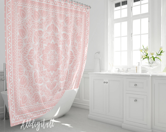 art house cotton fabric shower curtain