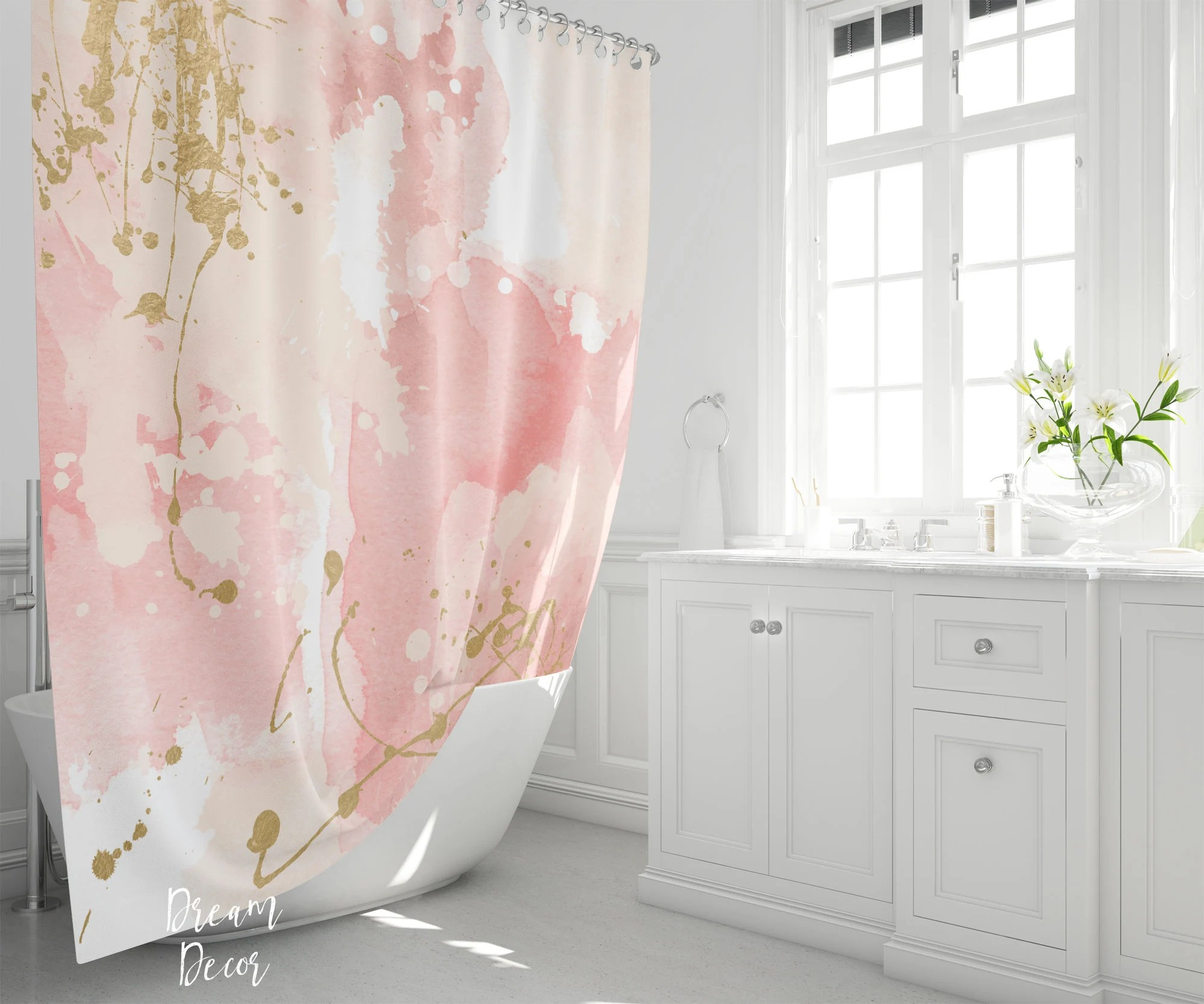 gold shower curtain etsy