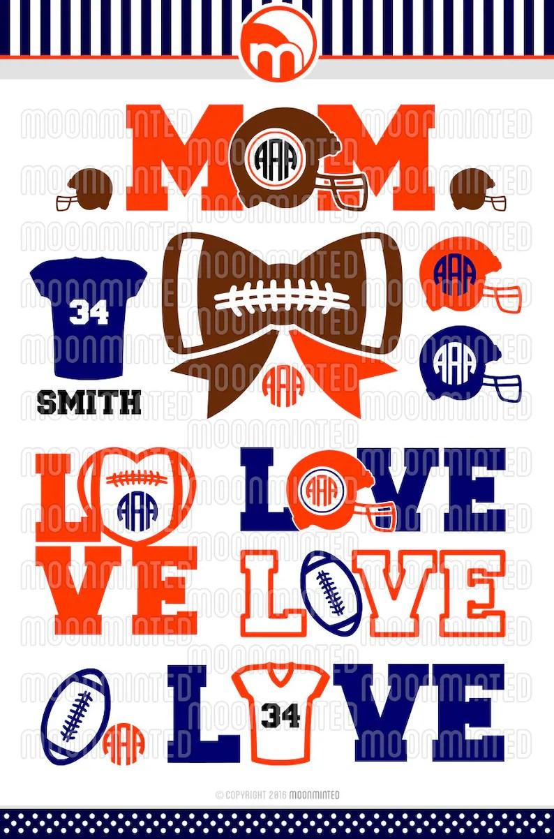 Download Football Love SVG Cut Files Monogram Frames for Vinyl | Etsy