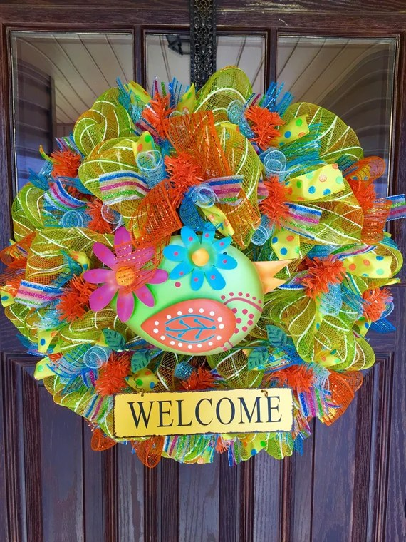 Etsy Yellow Summer Home Decor Wreath Housewarming Gift on ...