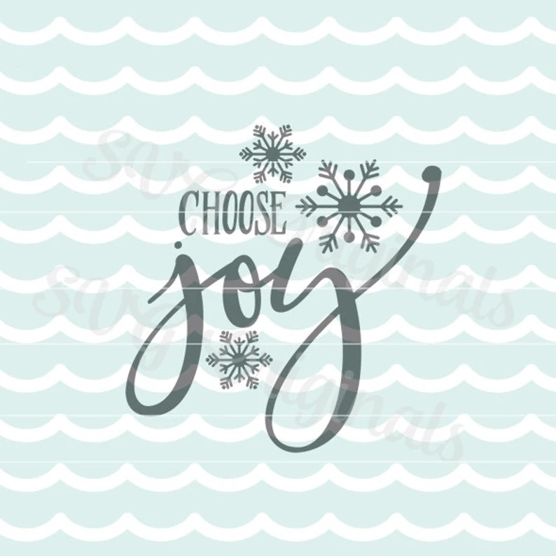 Download Christmas SVG Vector File. Choose joy SVG art. Cricut ...