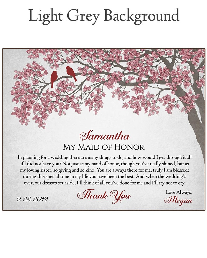 Maid of Honor Gift  Gift For Maid of Honor  Bridal Party image 5