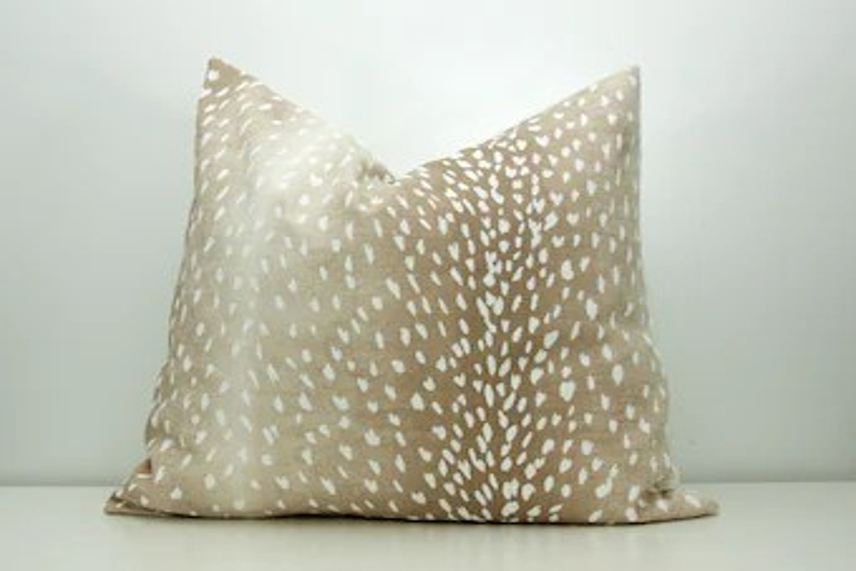 fawn print pillow etsy
