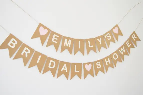 Personalised Bridal Shower Bunting