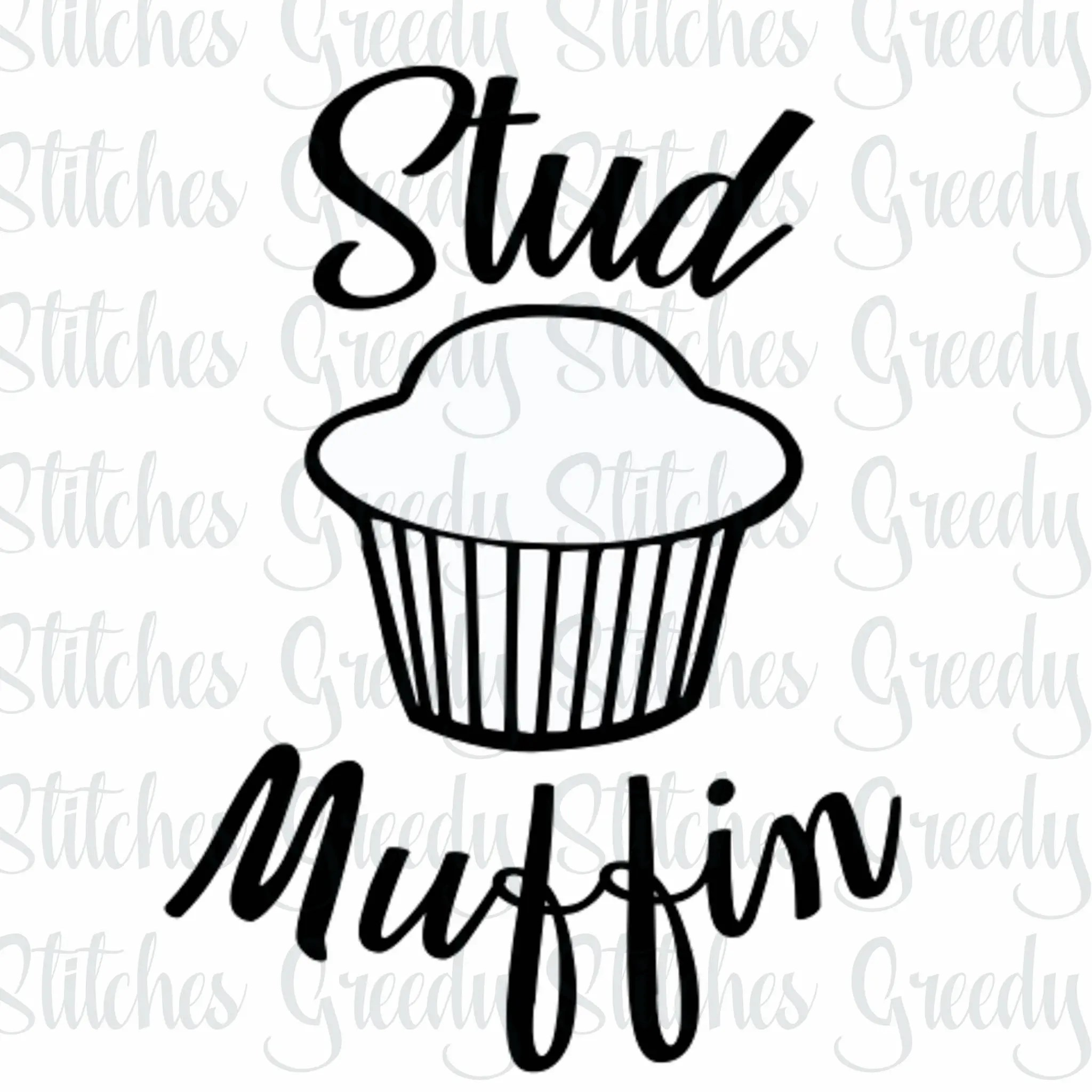 Stud Muffin Svg Eps Dxf