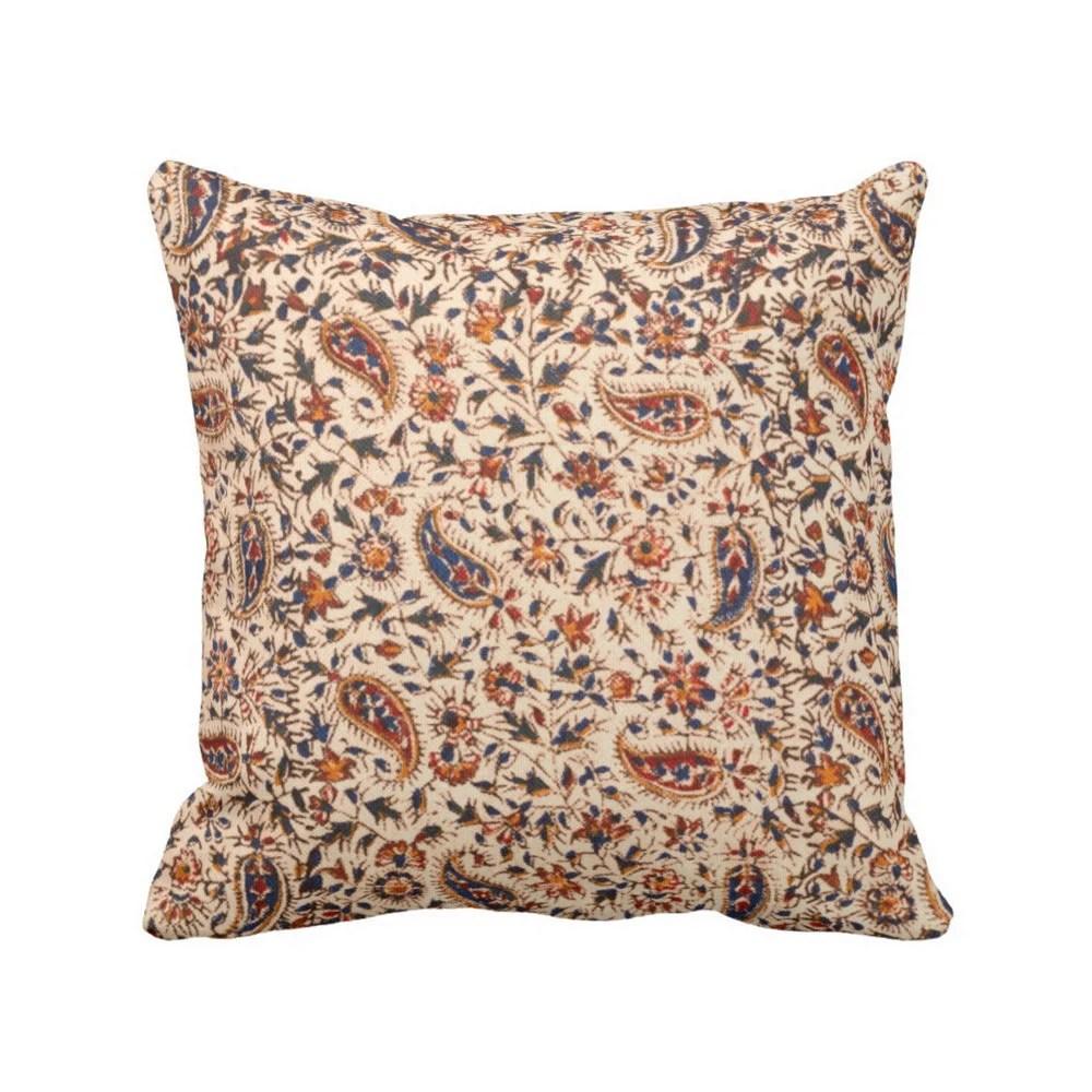outdoor retro paisley throw pillow or
