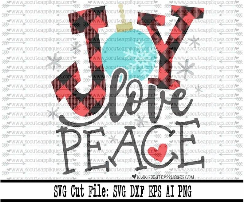 Download Joy love Peace svg socuteappliques Santa svg winter svg   Etsy