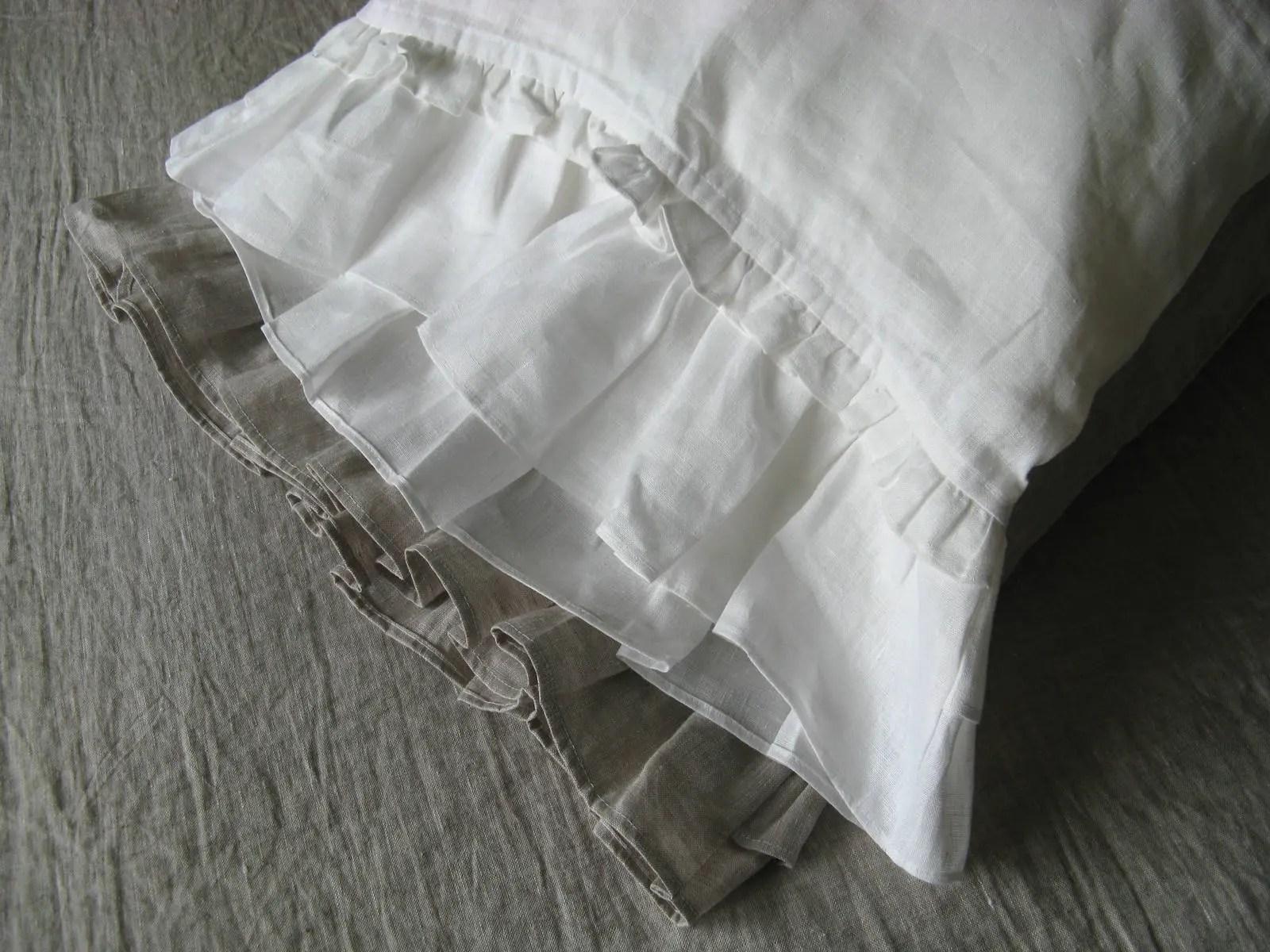 ruffled pillowcase etsy