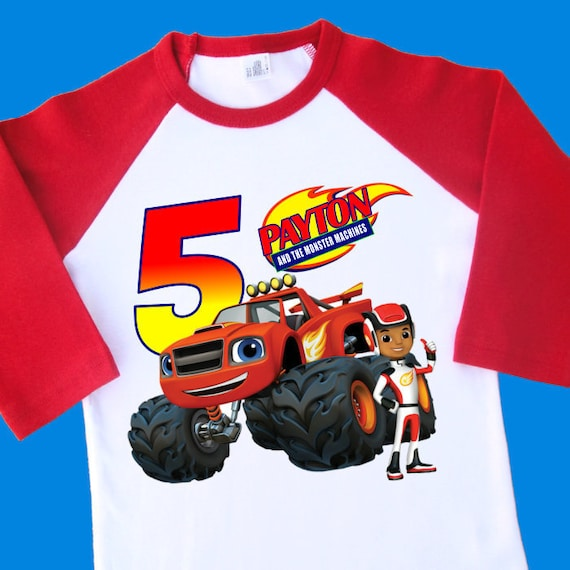 Blaze And The Monster Machine Birthday Shirt Personalized Etsy