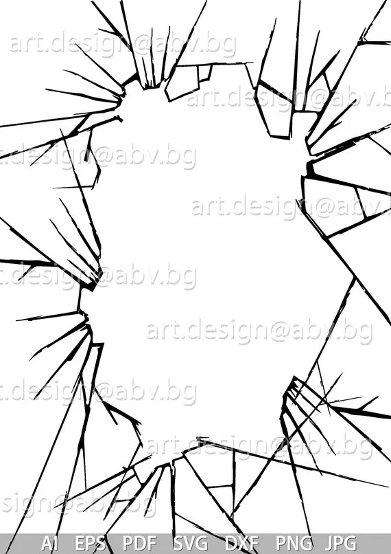 Broken Glass Frame Png | Frameswalls.org