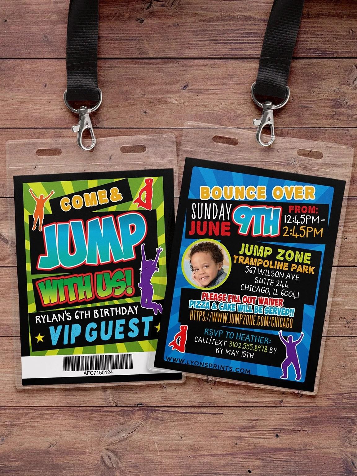 jump invitation bounce house
