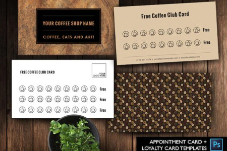 Free Coffee card template free Salon Loyalty Business Card   Etsy image 0