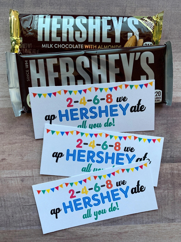 Instant Download Hershey Bar Appreciation Printables Tags