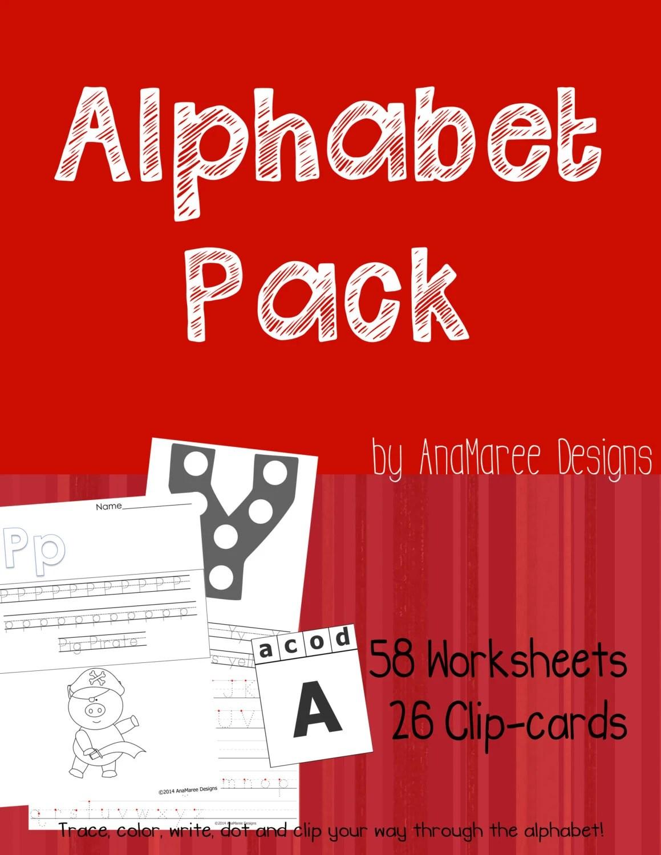 Homeschool Printable Alphabet Pack 58 Worksheets And 26
