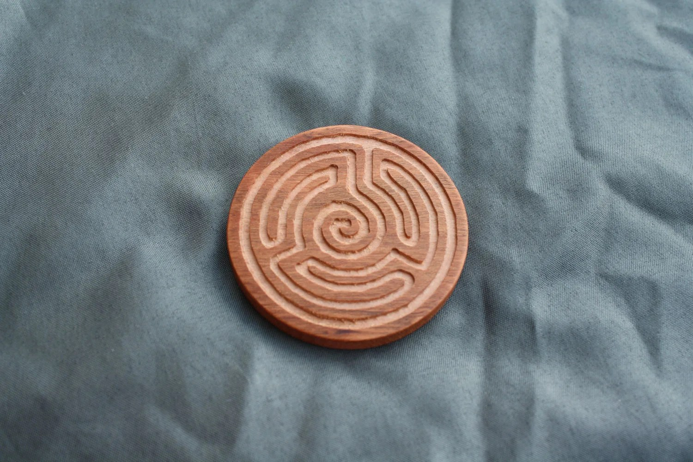 Pocket Labyrinth Labyrinth Medallion Labyrinth Zen Etsy