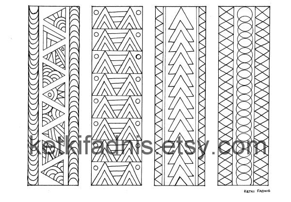 triangle coloring page # 60