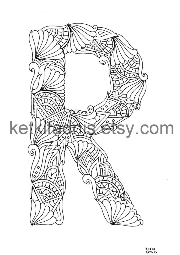 letter r coloring page # 16