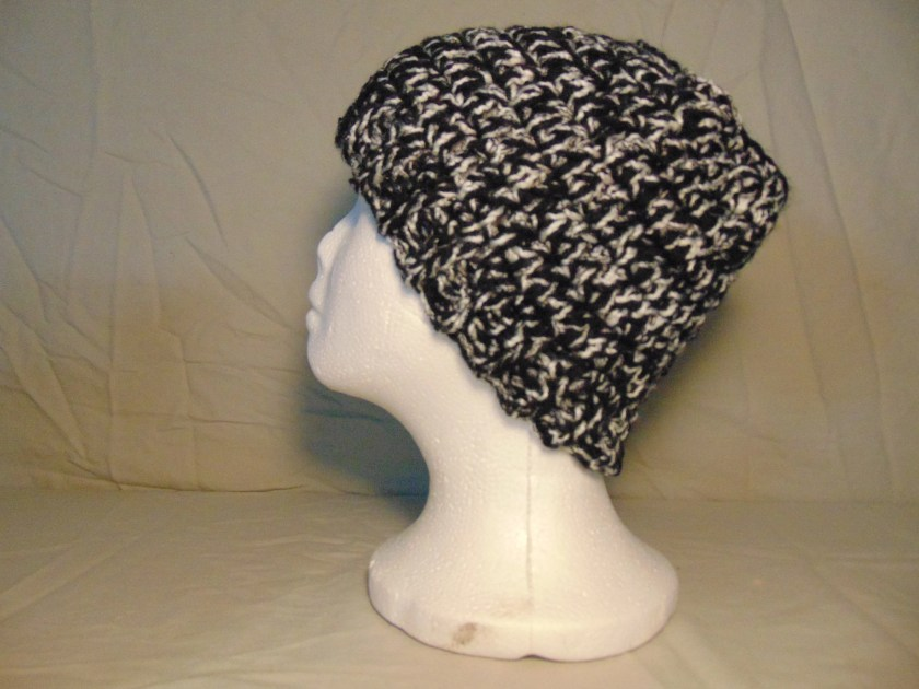 Crocheted Black & White M...