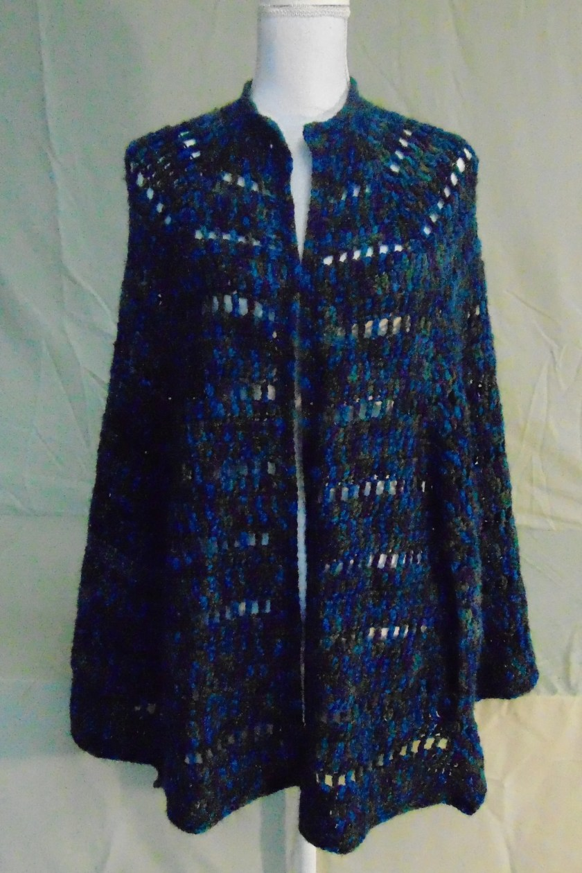 Crocheted Poncho/Shawl-Ha...