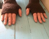 Crocheted Fingerless Glov...