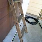 Antique Wooden Ladder Small Wood Ladder Rustic Decor Farmhouse Primitive Decor Three Step Ladder Vintage Wooden Ladder Blanket Rack Changingtreasures